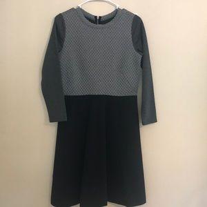 Loft grey and black long sleeve dress. Size 4.